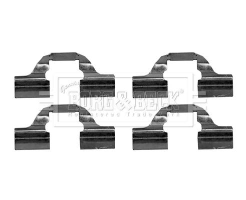Kit de montage plaquettes de frein BORG & BECK BBK1222 (X1)