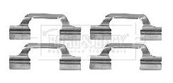 Kit de montage plaquettes de frein BORG & BECK BBK1223 (X1)