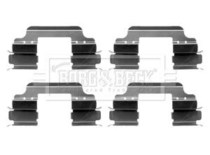 Kit de montage plaquettes de frein BORG & BECK BBK1237 (X1)