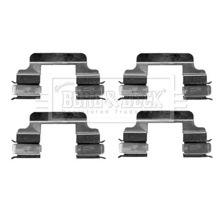Kit de montage plaquettes de frein BORG & BECK BBK1263 (X1)