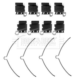 Kit de montage plaquettes de frein BORG & BECK BBK1442 (X1)