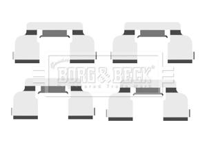 Kit de montage plaquettes de frein BORG & BECK BBK1478 (X1)