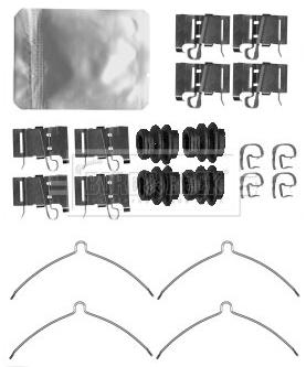 Kit de montage plaquettes de frein BORG & BECK BBK1553 (X1)