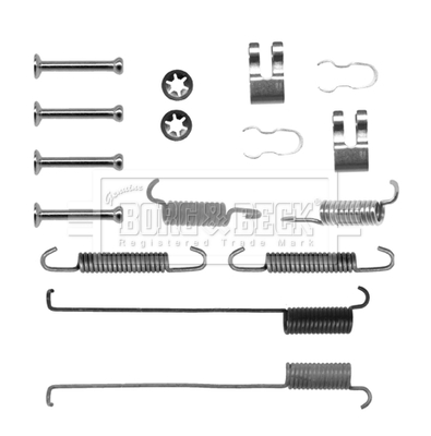 Kit de montage plaquettes de frein BORG & BECK BBK6142 (X1)