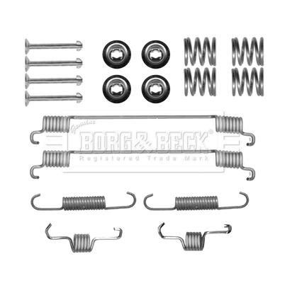Kit de montage plaquettes de frein BORG & BECK BBK6163 (X1)