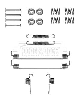 Kit de montage plaquettes de frein BORG & BECK BBK6219 (X1)