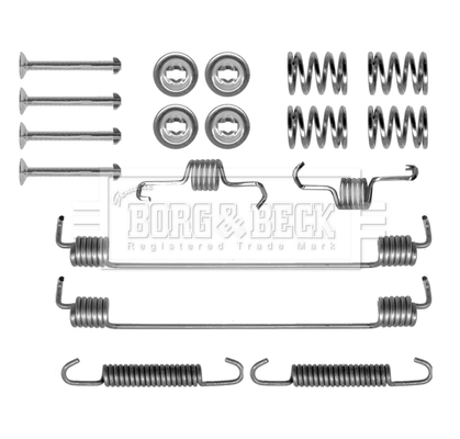 Kit de montage plaquettes de frein BORG & BECK BBK6292 (X1)