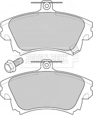 Plaquettes de frein avant BORG & BECK BBP1639 (X1)