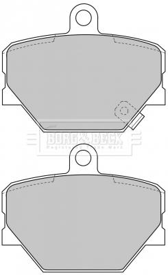 Plaquettes de frein avant BORG & BECK BBP1679 (X1)
