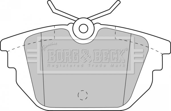 Plaquettes de frein arriere BORG & BECK BBP1867 (X1)