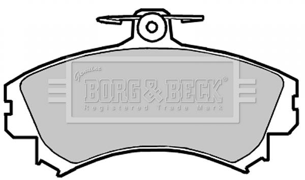 Plaquettes de frein avant BORG & BECK BBP2151 (X1)