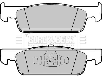 Plaquettes de frein avant BORG & BECK BBP2407 (X1)
