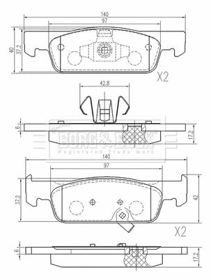 Plaquettes de frein avant BORG & BECK BBP2616 (X1)