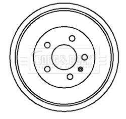 Tambour de frein arriere BORG & BECK BBR7045 (X1)