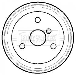 Tambour de frein arriere BORG & BECK BBR7118 (X1)