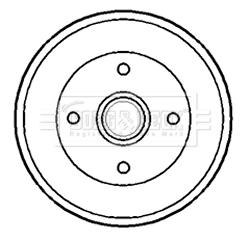 Tambour de frein arriere BORG & BECK BBR7173 (X1)