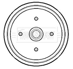 Tambour de frein arriere BORG & BECK BBR7174 (X1)