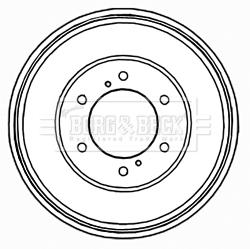 Tambour de frein arriere BORG & BECK BBR7200 (X1)