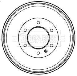 Tambour de frein arriere BORG & BECK BBR7229 (X1)