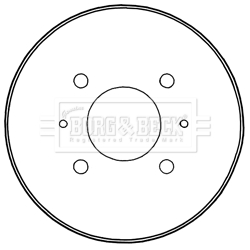 Tambour de frein arriere BORG & BECK BBR7235 (X1)