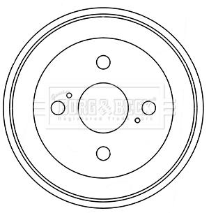Tambour de frein arriere BORG & BECK BBR7246 (X1)