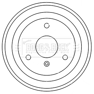 Tambour de frein arriere BORG & BECK BBR7248 (X1)