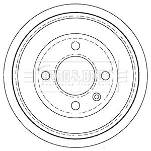 Tambour de frein arriere BORG & BECK BBR7256 (X1)
