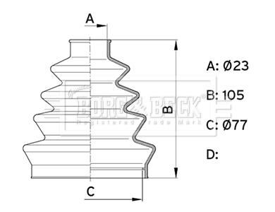 Soufflet de cardan BORG & BECK BCB1001 (X1)