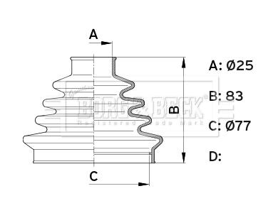 Soufflet de cardan BORG & BECK BCB1006 (X1)