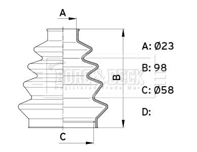 Soufflet de cardan BORG & BECK BCB1008 (X1)