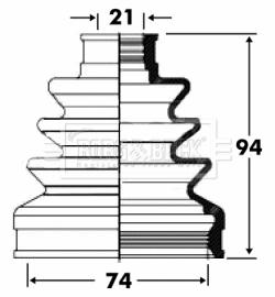 Soufflet de cardan BORG & BECK BCB2821 (X1)
