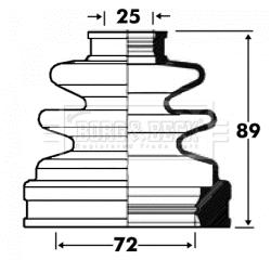 Soufflet de cardan BORG & BECK BCB2835 (X1)