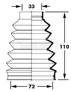 Soufflet de cardan BORG & BECK BCB6000 (X1)