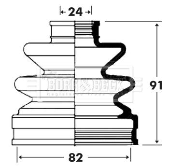 Soufflet de cardan BORG & BECK BCB6002 (X1)