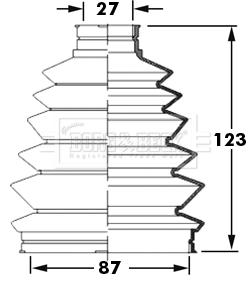 Soufflet de cardan BORG & BECK BCB6004 (X1)