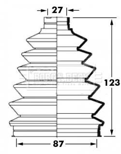 Soufflet de cardan BORG & BECK BCB6022 (X1)