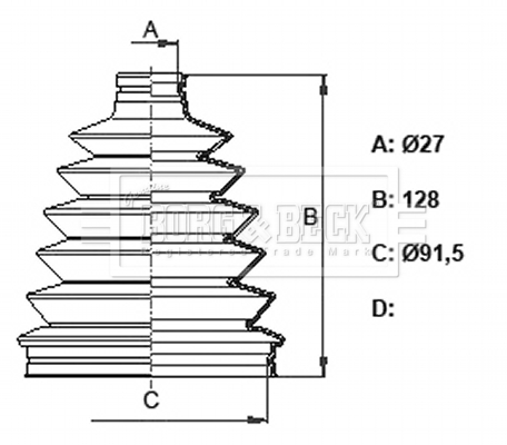 Soufflet de cardan BORG & BECK BCB6379 (X1)