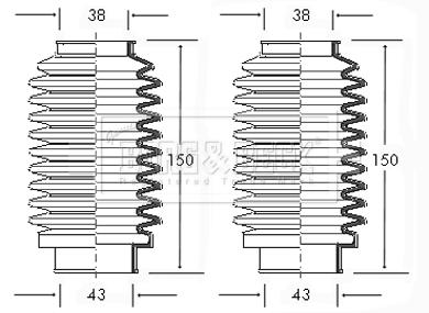 Joints soufflets direction - crémaillère BORG & BECK BSG3000 (X1)