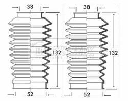 Joints soufflets direction - crémaillère BORG & BECK BSG3189 (X1)