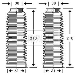 Joints soufflets direction - crémaillère BORG & BECK BSG3217 (X1)
