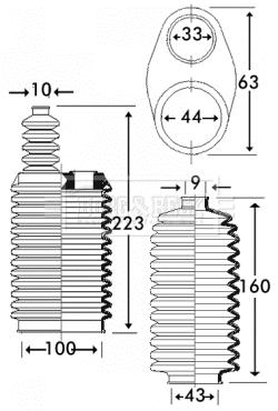 Joints soufflets direction - crémaillère BORG & BECK BSG3218 (X1)