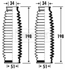 Joints soufflets direction - crémaillère BORG & BECK BSG3266 (X1)