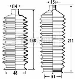 Joints soufflets direction - crémaillère BORG & BECK BSG3330 (X1)