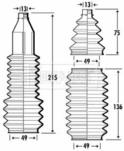 Joints soufflets direction - crémaillère BORG & BECK BSG3367 (X1)