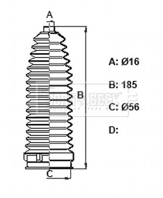 Joints soufflets direction - crémaillère BORG & BECK BSG3430 (X1)