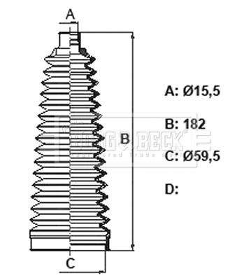 Joints soufflets direction - crémaillère BORG & BECK BSG3438 (X1)