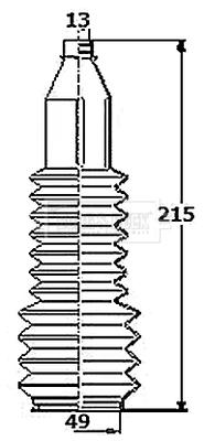 Joints soufflets direction - crémaillère BORG & BECK BSG3453 (X1)