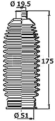 Joints soufflets direction - crémaillère BORG & BECK BSG3474 (X1)