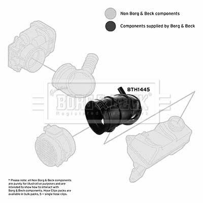 Tuyau d'aspiration, alimentation d'air BORG & BECK BTH1445 (X1)
