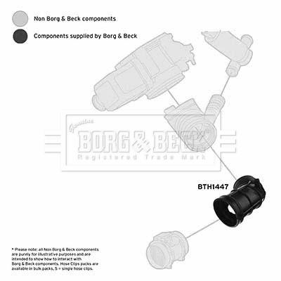 Tuyau d'aspiration, alimentation d'air BORG & BECK BTH1447 (X1)